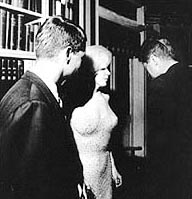 Marilyn captured with JFK and brother Bobby